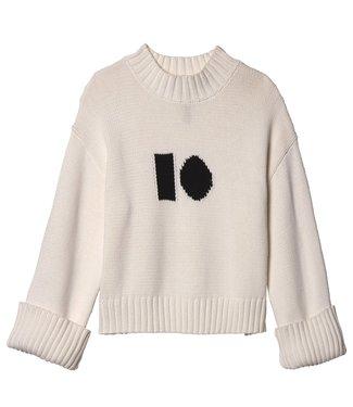 10Days Big sweater off white 20-603-9103
