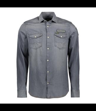 PME Legend Long Sleeve Shirt Denim Indigo/grey PSI195238-590
