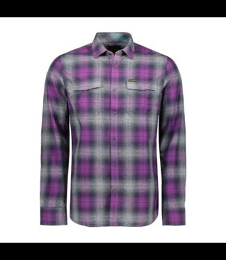 PME Legend Long Sleeve Shirt Check Purple Passion PSI195221-4142