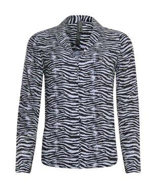 Poools Blouse zebra print zwart 933228