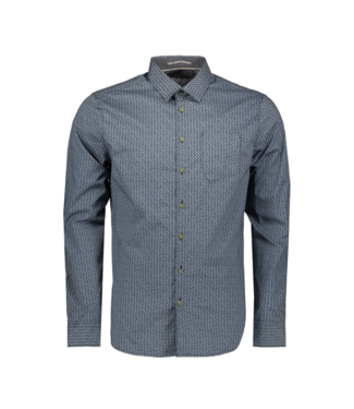 No Excess Shirt allover printed fancy, Office Blue 92410704