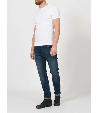 Petrol Industries Tymore tapered jeans donkerblauw 5801