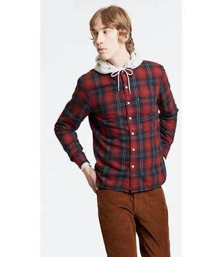 Levi's Sunset 1 pocket shirt rood 65824-0450