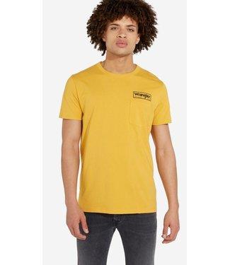 Wrangler Shortsleeve pocket tee geel W7A7FKY02