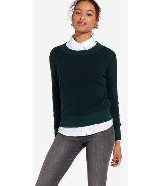 Wrangler Two tone knit groen W8N1P5G01