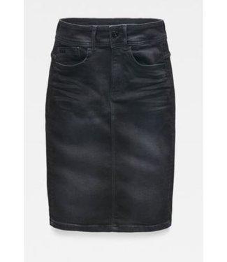 G-Star Lynn slim skirt zwart D14420-B472-A814