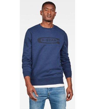 G-Star Graphic 18 core sweater blauw D14727-B715-1305