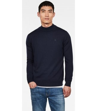 G-Star Core mock turtle knit donkerblauw D14544-B692-6468