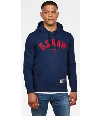 G-Star Graphic 14 core hooded sweater donkerblauw D14728-A612-1305