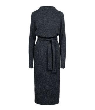 Zusss Lange gebreide jurk antraciet 03GJ19n