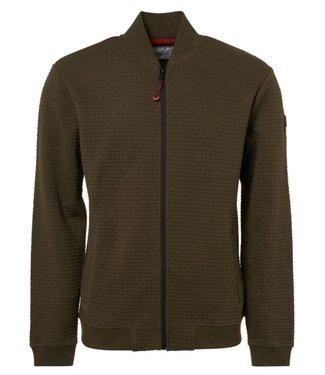 No Excess Sweater, full zip Bomber, green Print 92100813