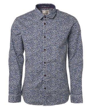 No Excess Shirt, allover printed Indigo Blue 92430806