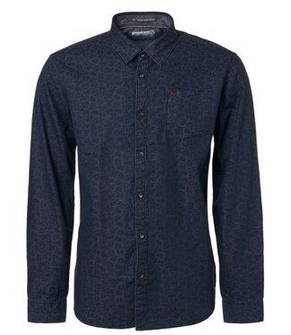 No Excess Shirt, allover printed chambray night Print 92480803