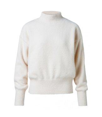 Yaya Oversized high neck sweater wool white 1000218-923