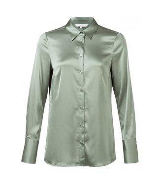 Yaya Satin shirt utility green 110105-923