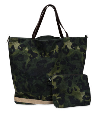 Yaya Reversible bag DEEP GREEN 131148-923