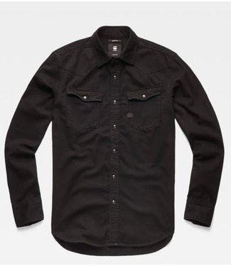 G-Star 3301 slim shirt zwart D15290-B496-89