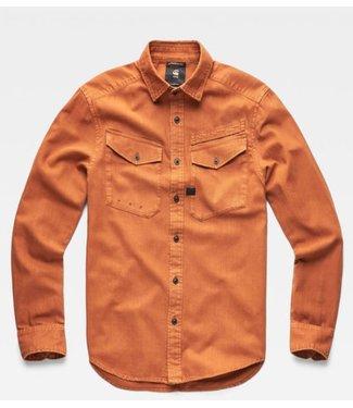 G-Star Army straight shirt bruin D14067-7647-A493