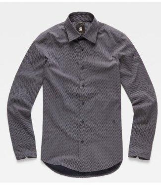 G-Star Core super slim shirt donkerblauw D14066-B554-8708