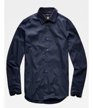 G-Star Core super slim shirt zwart/blauw D14066-B552-8630