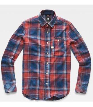 G-Star Bristum 1 pocket slim shirt donkerblauw D14071-7933-6322