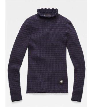 G-Star Silber mock turtle knit donkerblauw D14855-B737-6486