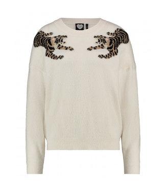 Knitted jumper Wild child off white 1902040806