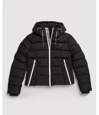 Superdry Spirit puffer icon jacket zwart W5000058B