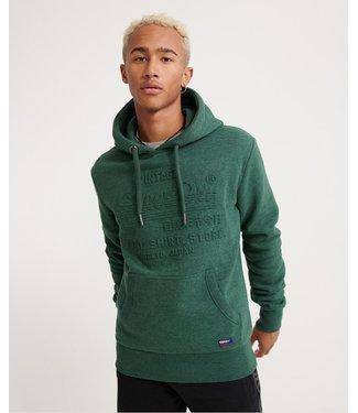 Superdry Sweat shirt shop embossed hood groen M2000047B
