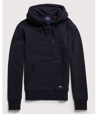 Superdry Sweat shirt shop embossed hood blauw M2000047B