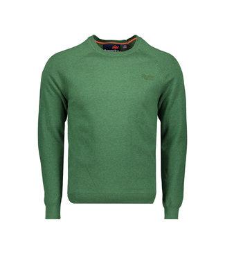 Superdry Orange label cotton crew groen M6100025A