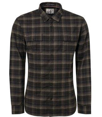 No Excess Shirt, yarn dyed shadow check black 92430908