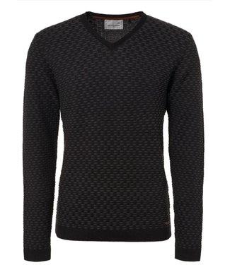 No Excess Pullover, V-Neck, Plated Jacquard b black 92230924