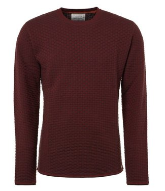 No Excess Pullover R-neck, plated jacquard Brick 92230922