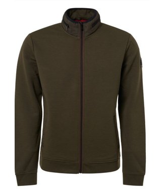 No Excess Sweater, full zip Cardigan, dk army 92100907