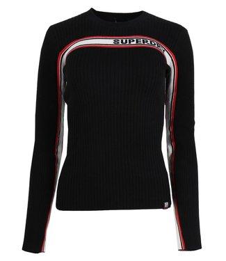 Superdry Superdry logo ribbed jumper zwart W6100027A