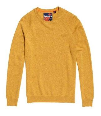 Superdry Orange label cotton crew geel M6100025A