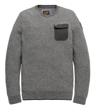 PME Legend Crewneck Cotton Mouline Grey Melee PKW196302-960