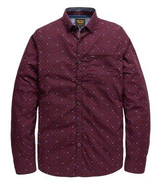 PME Legend Long Sleeve Shirt Poplin Print Winetasting PSI196217-4092