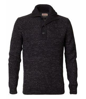 Petrol Industries Knitwear collar zwart M-3090-KWC203