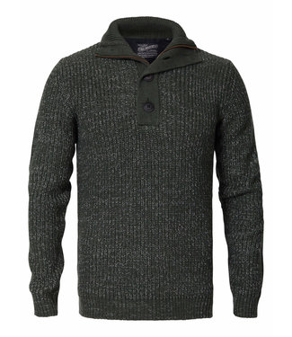 Petrol Industries Knitwear collar groen M-3090-KWC203