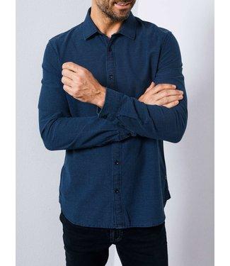 Petrol Industries Shirt longsleeve donkerblauw M-3090-SIL434