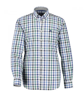 State of Art Shirt Checked bladgroen 215-29107-3639