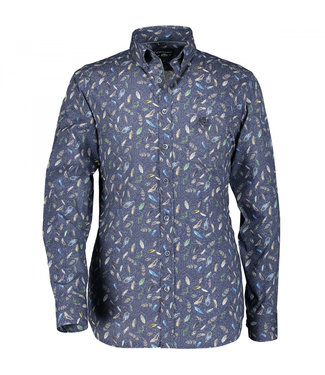 State of Art Shirt Printed Pop bladgroen 214-29222-3659