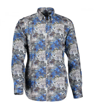 State of Art Shirt Printed Pop bladgroen 214-29142-3657