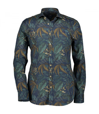 State of Art Shirt Printed Pop bladgroen 214-29125-3659