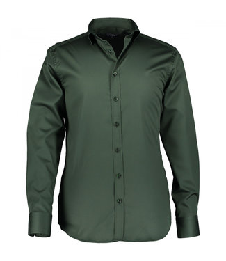 State of Art Shirt Satijn twill donkergroen 211-29190-3900