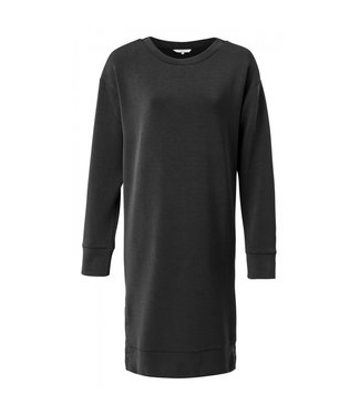 Yaya Sweater dress with buttons BLACK 1809188-924
