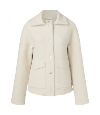 Yaya Knitted utility jacket WOOL WHITE 101056-924