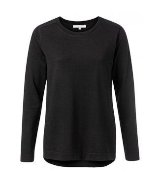 Yaya Sweatshirt with back panel BLACK 100066-924